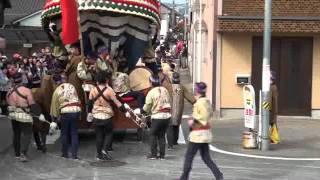 唐津くんち、2011.11.04、宮島醤油折り返し、四番源義経の兜、五番鯛.