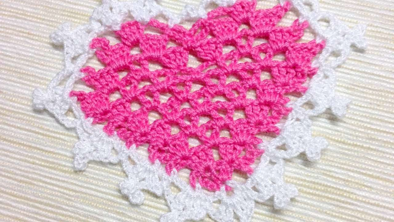 How To Make A Tender Crocheted Heart Applique Diy Crafts Tutorial
