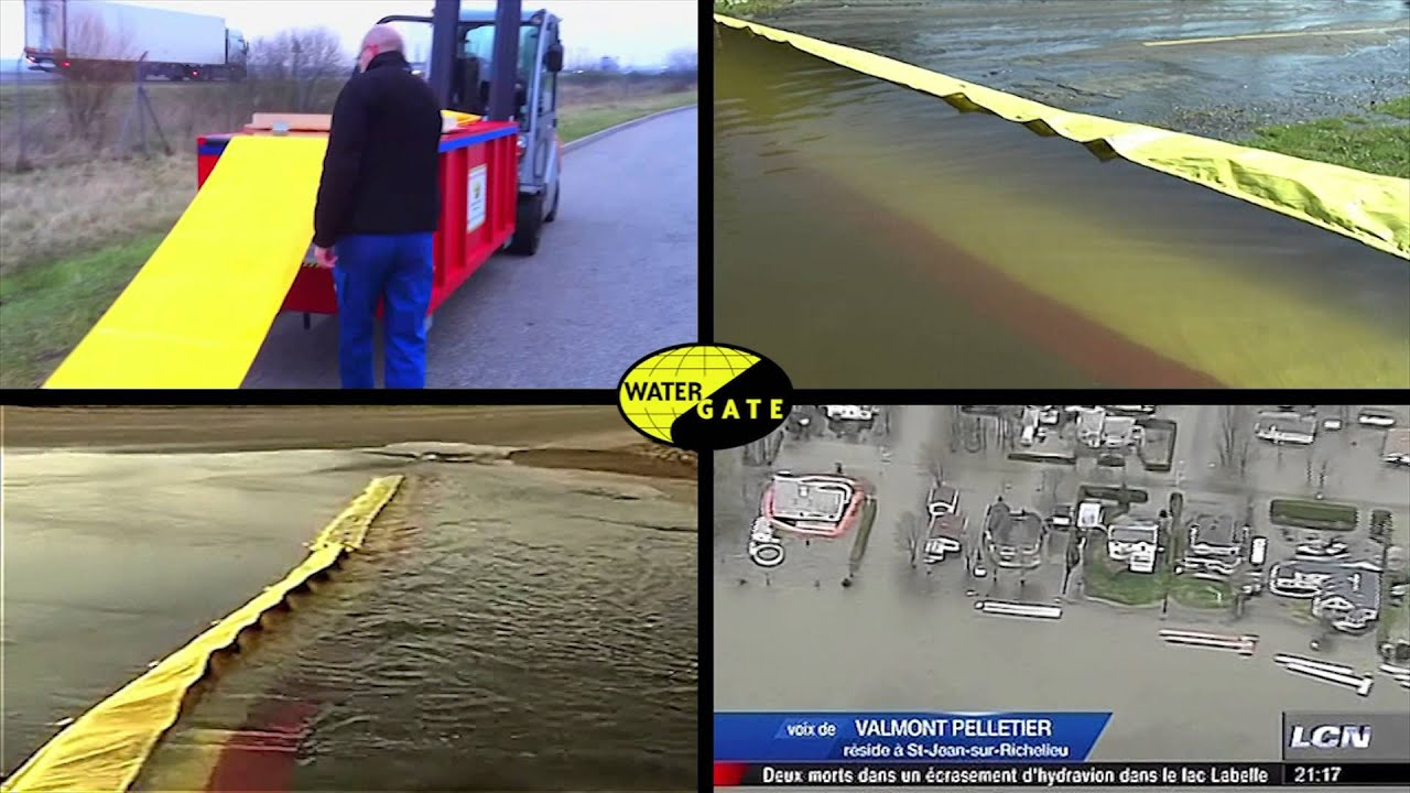 Barri re anti inondation water gate youtube for Barriere anti inondation belgique