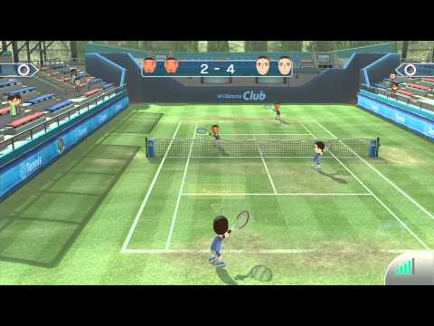 Wii Sports Club - Tennis (2-player online) HD Gameplay