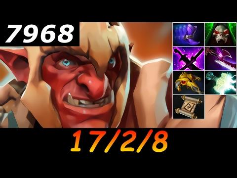 Dota 2 Troll Warlord 7968 MMR 17/2/8 (Kills/Deaths/Assists) Ranked Full Gameplay