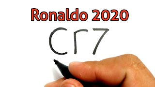 AMAZING, How to turn words CR7 into CRISTIANO RONALDO CR7 JUVENTUS football player
