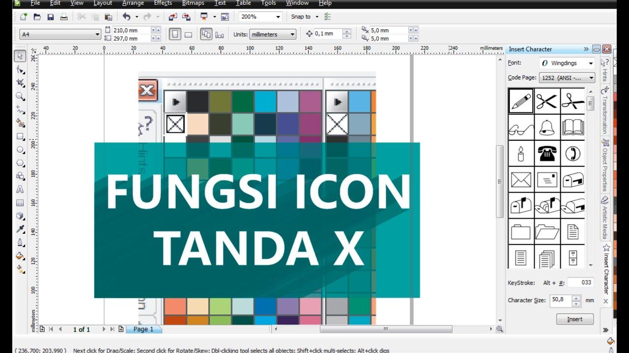 Fungsi Icon Tanda Silang Pada Pallete Warna Di Coreldraw Belajar Coredraw Youtube