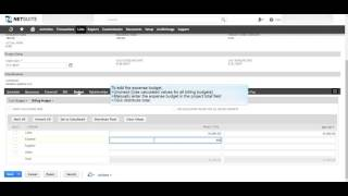 NetSuite : Step 4 Adding Project Budget