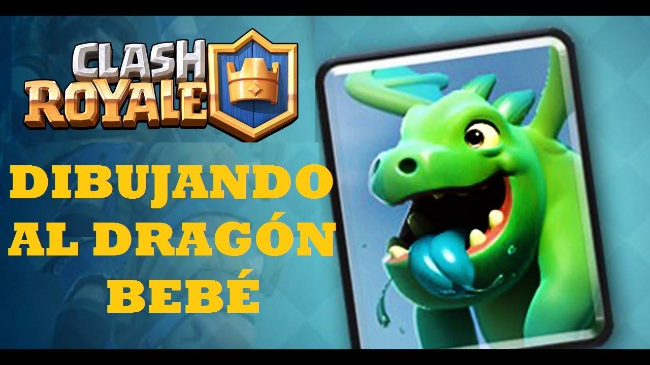 DIBUJANDO AL DRAGÓN BEBÉ DE CLASH ROYALE - YouTube