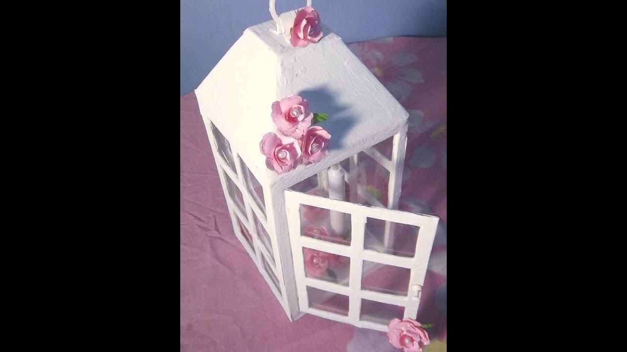 Farolito vintage decorativo youtube for Como hacer espejos decorativos