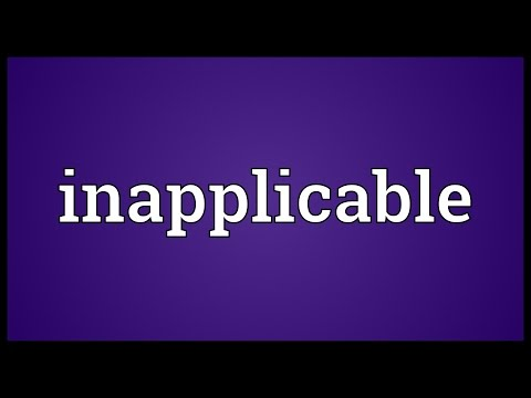 Header of inapplicable