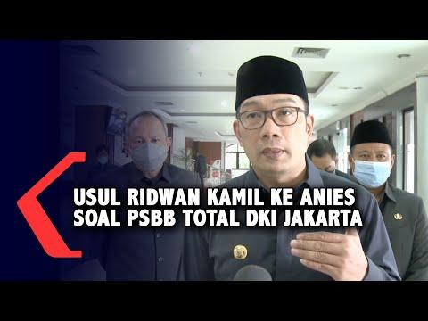 Ini Usul Ridwan Kamil ke Anies Soal PSBB Total di DKI Jakarta