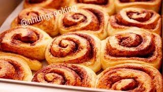 Cách Làm Bánh Mì Cuộn Quế Không Cần Nhồi Bột / NO-KNEAD CINNAMON ROLLS