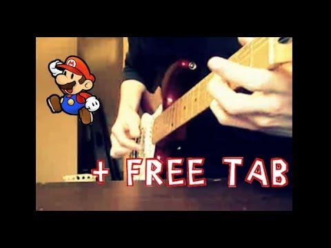 Super Mario Bros Theme Song Electric Guitar Cover + Tabs