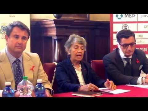 Gabriella Gavezzani, presidente Anlaids Lombardia presentazione AIDS RUNNING IN MUSIC