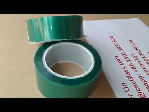 high temp tape, power coating tape, green tape, polyester tape, pet tape,  glazing tape 1