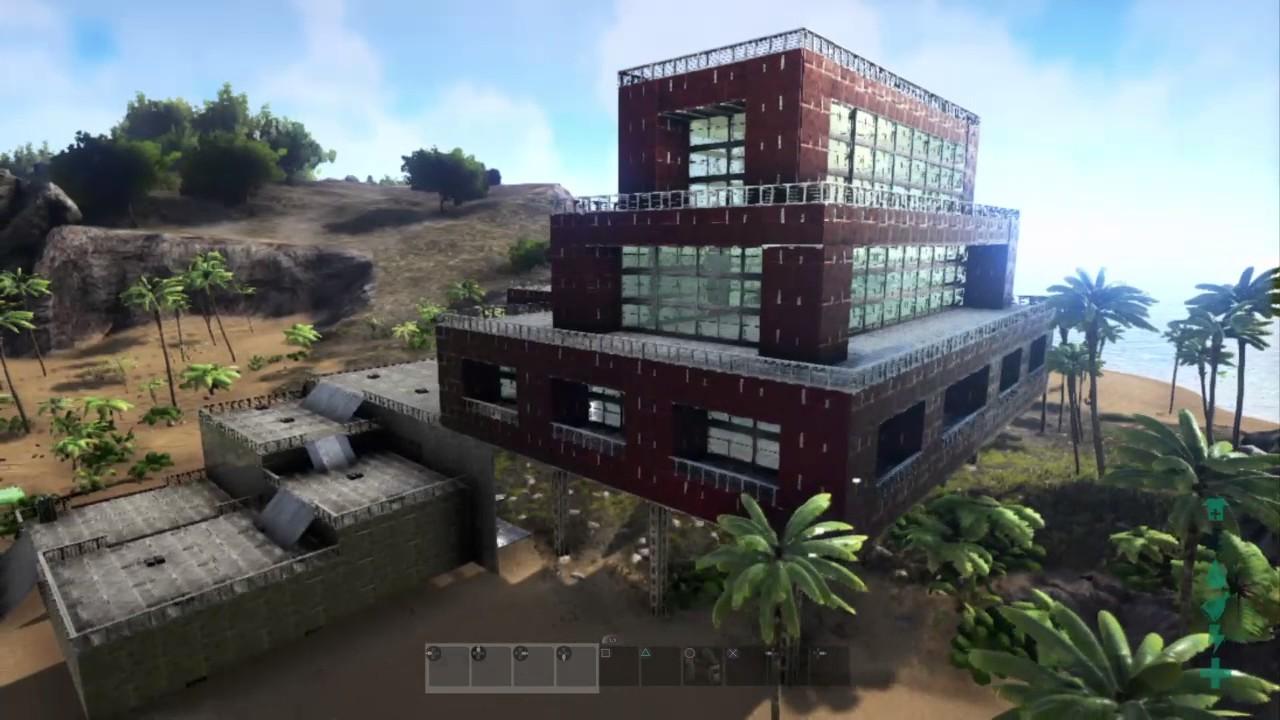 Ark survival evolved modern mansion youtube for Modern house ark