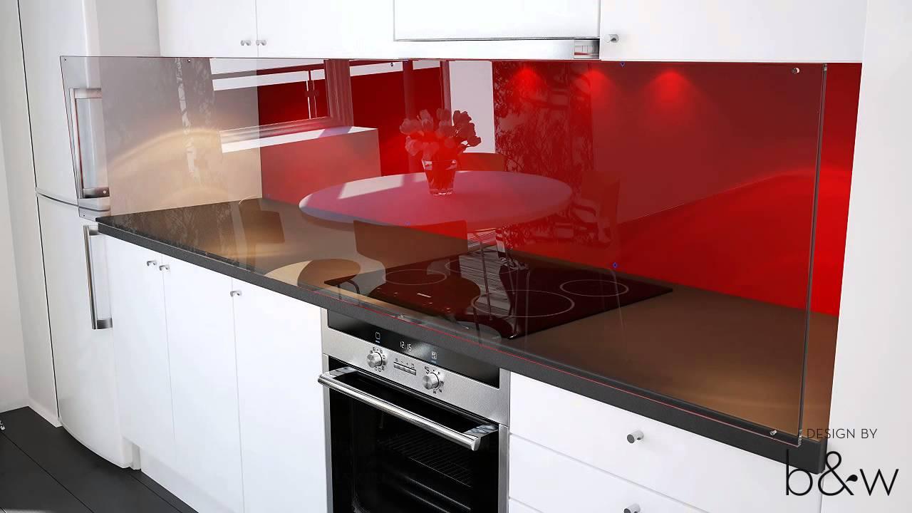 Montering av glaspanel frÃ¥n Bergman & Wrang -- rosettskruvar - YouTube : väggpanel kök : Kök