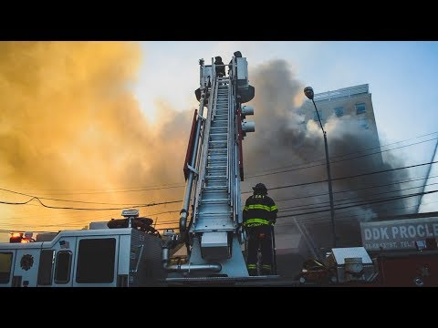 FDNY Battles 5 Alarm Fire in Long Island City, Queens