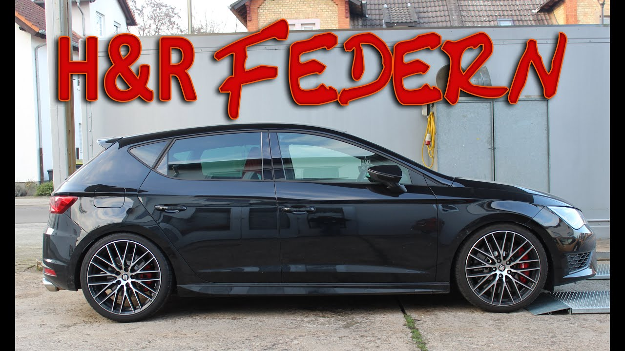seat leon cupra 280 5f h r federn youtube. Black Bedroom Furniture Sets. Home Design Ideas