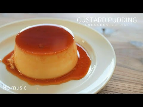 [No Music] 自家製カスタードプリンの作り方|How To Make Homemade Custard Pudding