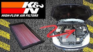 Replaced stock air filter with K&N and Sound Comparison