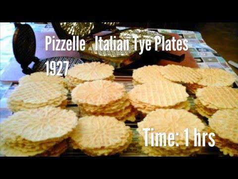 Pizzelle   Italian Tye Plates  1927 Recipe