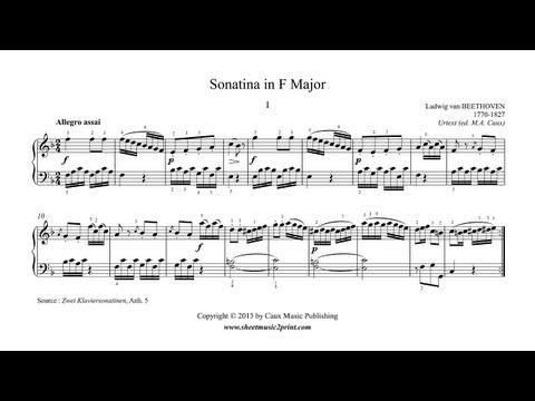 Beethoven : Sonatina in F Major, Anh. 5 (1/2)