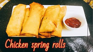 Chicken spring rolls recipe || How to make Chicken spring rolls recipe
