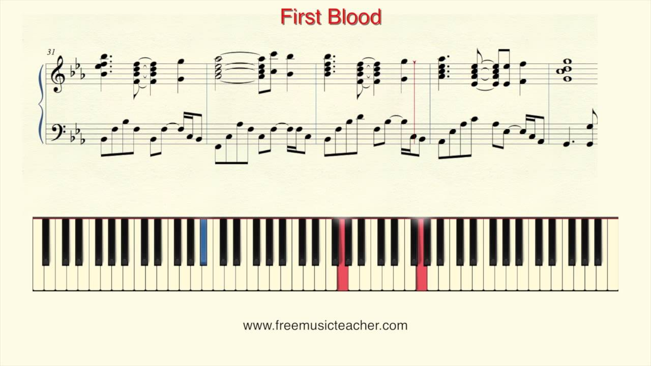 How to play piano first blood piano tutorial by ramin for First house music
