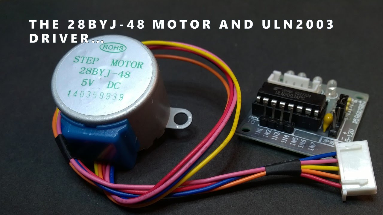 28byj 48 Stepper Motor And Uln2003 Driver Intro Youtube Here Http Arduinoinfowikispacescom Popularics Scroll Down