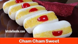 Holi sweets/Indian sweet cham cham recipe/easy sweet dish recipe/homemade sweet- letsbefoodie.com