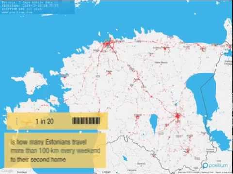 Mobile positioning in Estonia