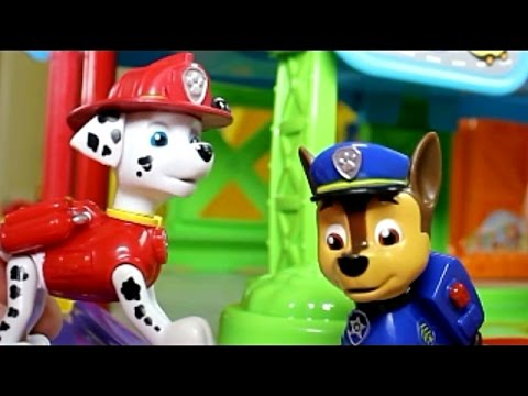 Smart Wheel City Meets PAW Patrol 🐾 Marshal Sleepwalking Again!  Vtech Go! Go! Smartwheels Toys