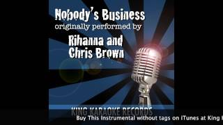 Nobody's Business Official Instrumental by Rihanna and Chris Brown Background Music
