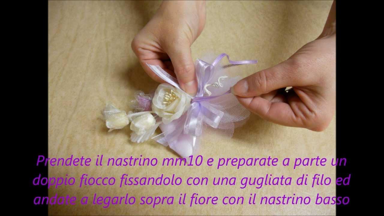 Extrêmement Confezionare Bomboniere Sacchetto tulle con petali - YouTube VU71