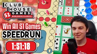Win All 51 Games Speedrun in 1:51:18 | Clubhouse Games 51 WwC