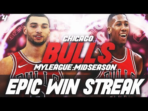 LAVINE PUTS ON A SHOW! EPIC WIN STREAK! | NBA 2K18 CHICAGO BULLS MYLEAGUE