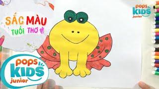Sắc Màu Tuổi Thơ - Tập 60 - Bé Tập Vẽ Con Ếch | How To Draw Colorful Frog