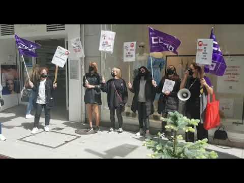 Trabajadores de H&M continúan sus protestas contra el Ere en Pontevedra