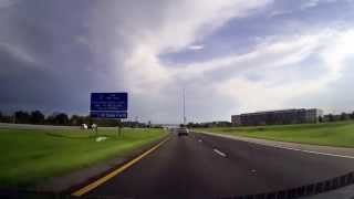 Driving along Interstate 4 through Orlando, Florida