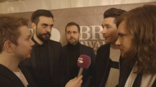 Bastille on the BRIT Awards 2017 red carpet | Absolute Radio