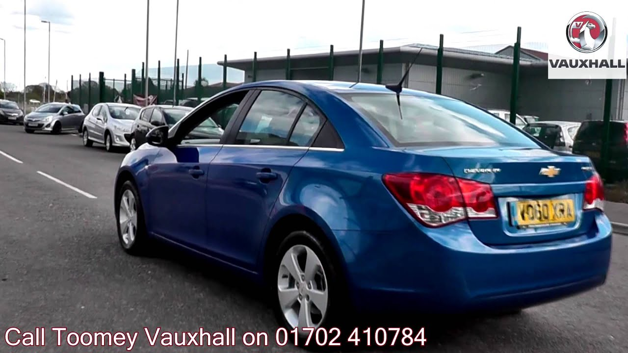 2010 chevrolet cruze lt 2l blue vo60xra for sale at toomey vauxhall southend youtube. Black Bedroom Furniture Sets. Home Design Ideas
