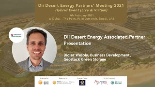 Dii Desert Energy Associated Partner Presentation by Didier Wesoly, Geostock Green Storage