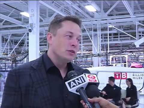 Indian PM Modi visits headquarters of carmaker Tesla Motors in Palo Alto