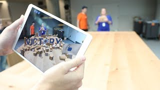 Hands-on with Apple's impressive AR slingshot demo