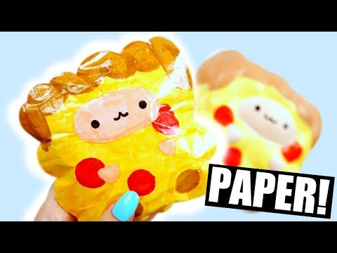 PIZZA POP POP SHEEP | How to make a paper squishy