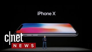Apple unveils iPhone X with Super Retina Display, FaceID (CNET News)