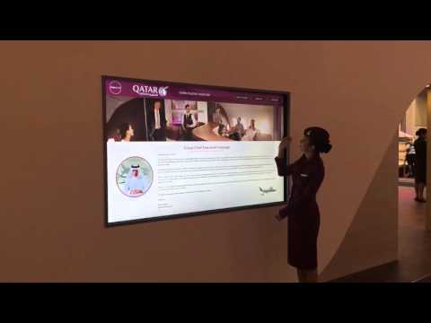 Qatar Airways interactive solutions at ITB 2016