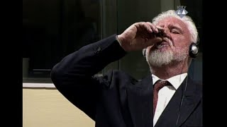 Bosnian war criminal dies after 'taking poison' in UN court