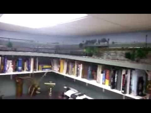 Joe's O gauge railroad shelf layout