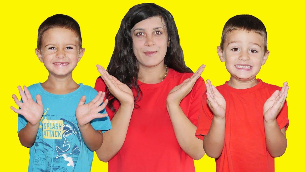 Clap Your Hands Spanish Version LETSGOMARTIN Canciones Infantiles