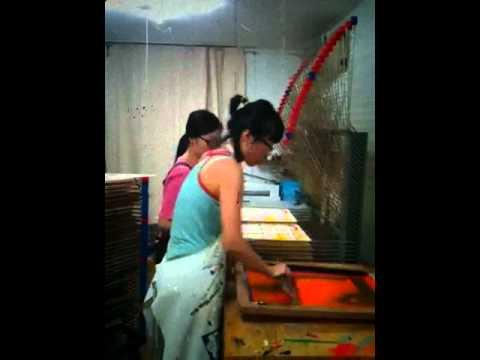 Antic-Ham screenprinting in Seoul