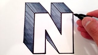 How to Draw the Letter N in 3D